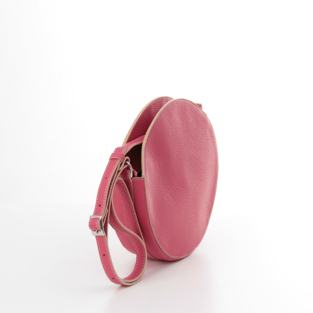 KARIKA mini - Pink circle crossbody bag - Bogabag