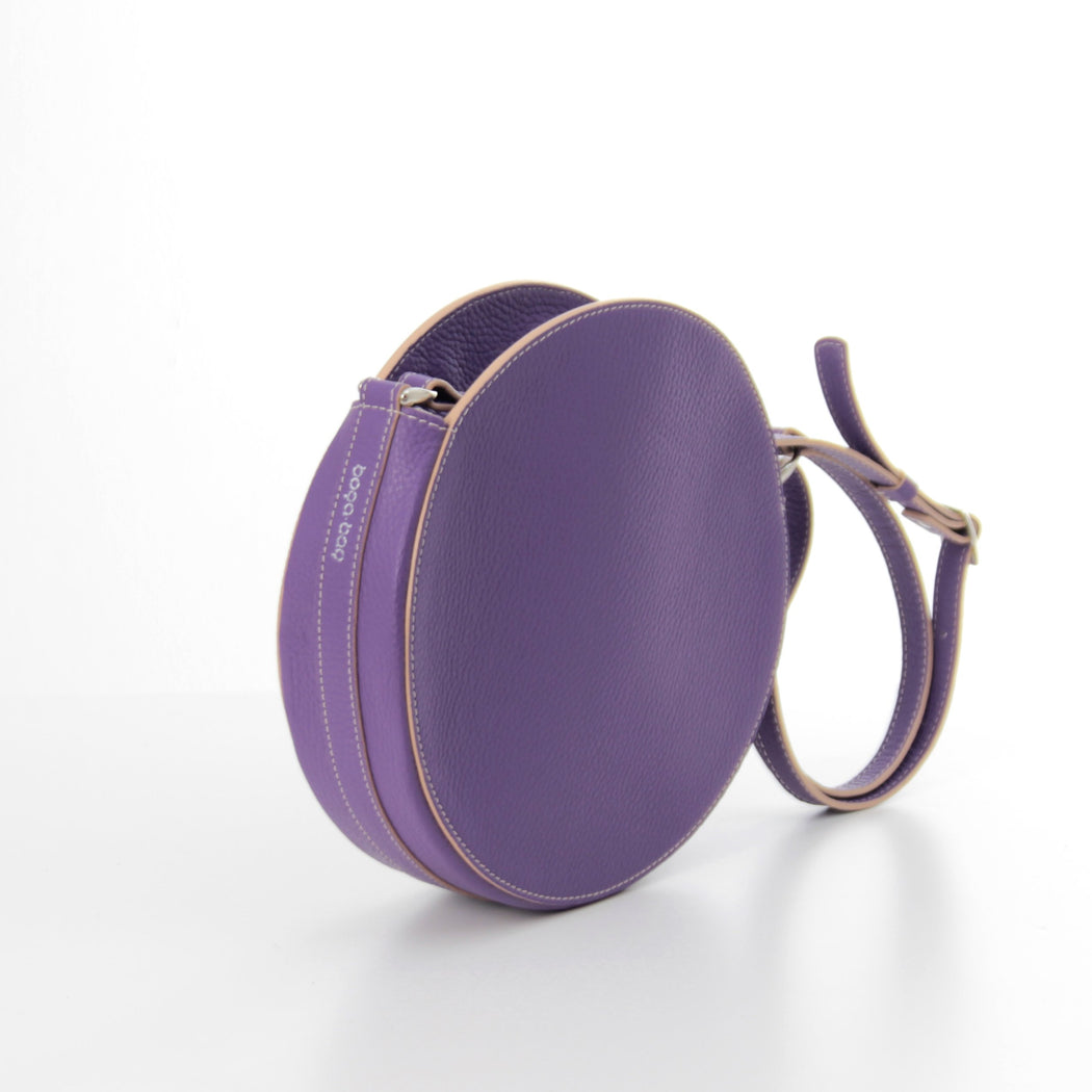 KARIKA mini - Purple circle crossbody bag - Bogabag