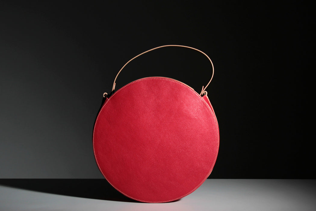 KARIKA big - Red circle handbag - Bogabag