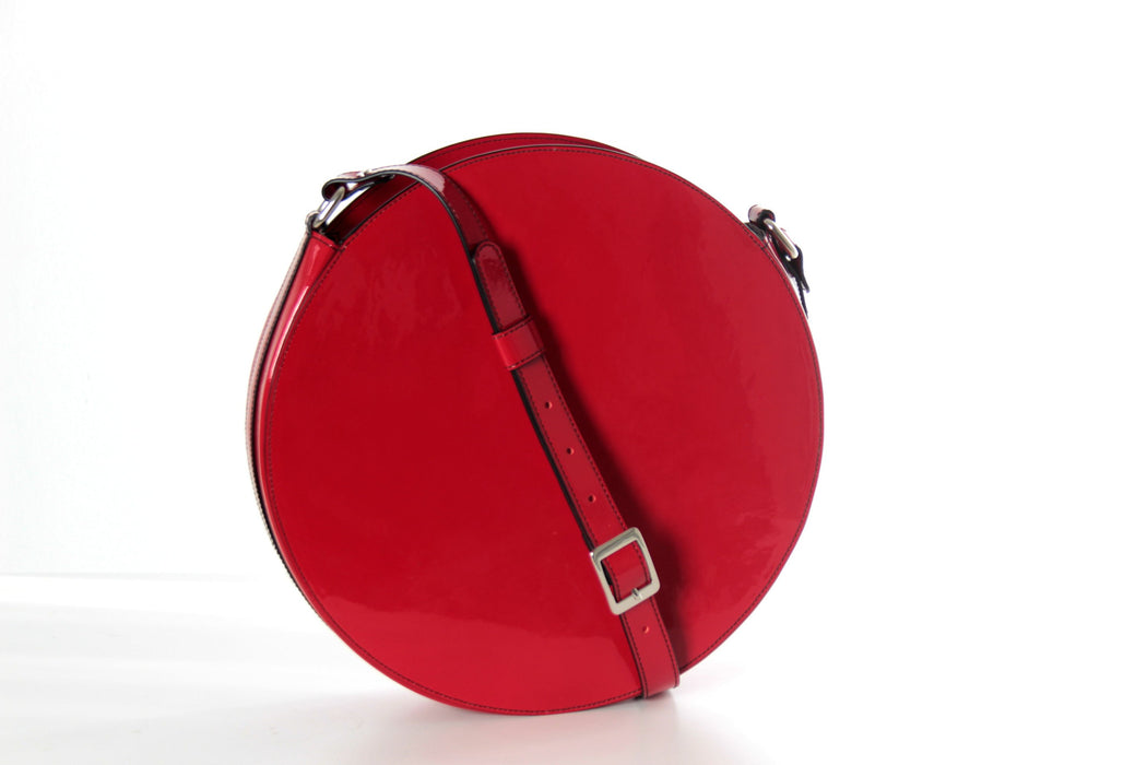 10e9911bfddc Red patent crossbody bag
