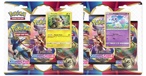 Pokemon: SS1 Sword & Shield 3PK Blister
