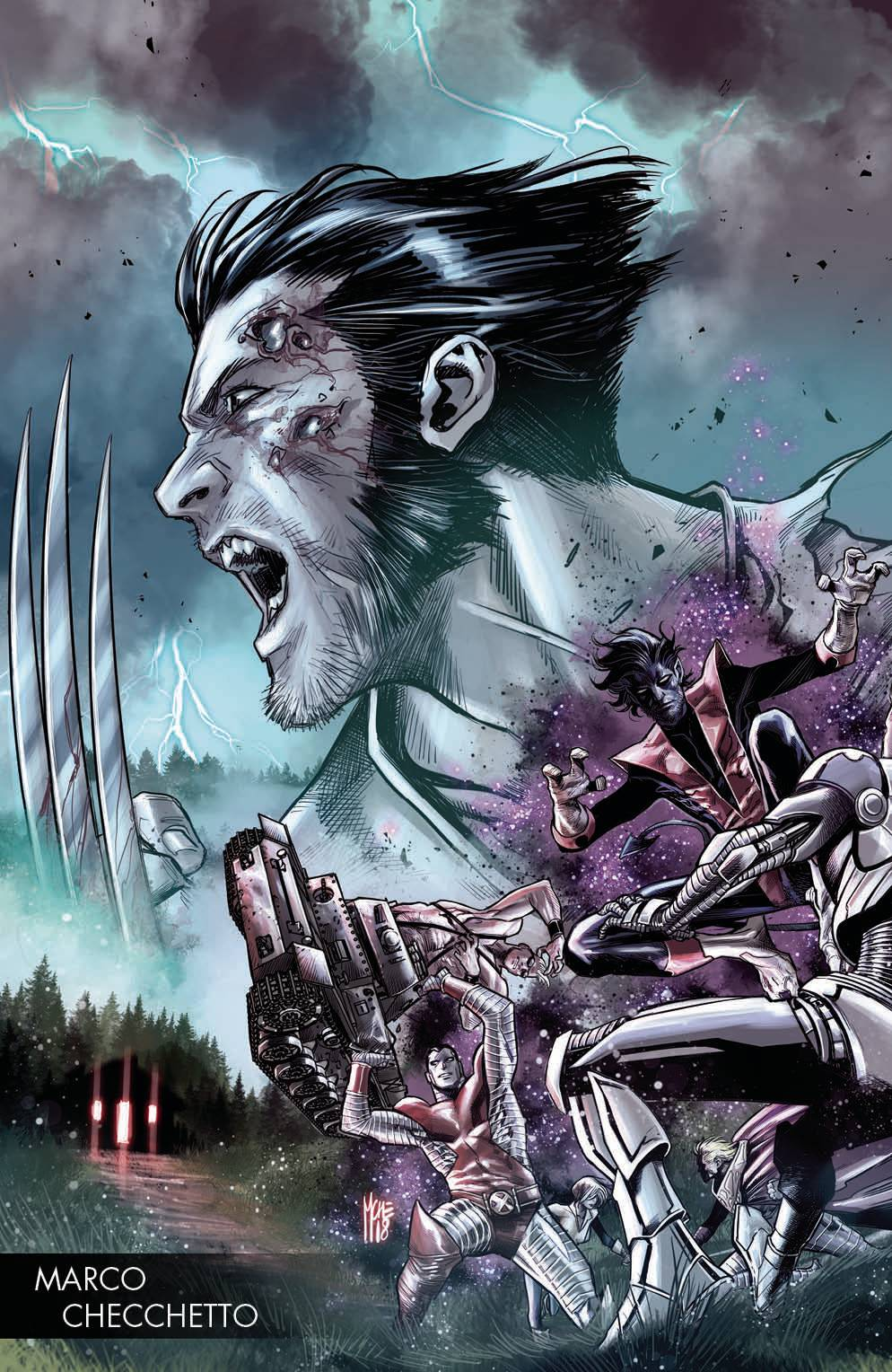 HUNT FOR WOLVERINE #1 CHECCHETTO YOUNG GUNS VAR