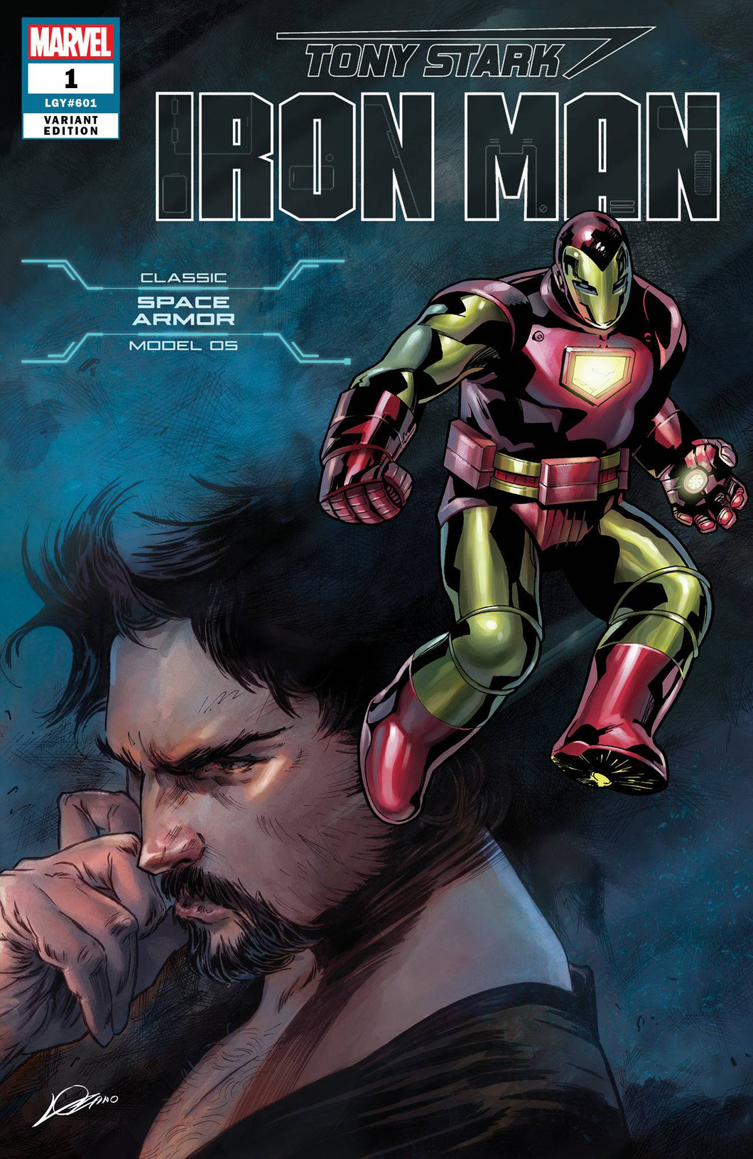 TONY STARK IRON MAN #1 SPACE ARMOR VAR (06/20/2018)