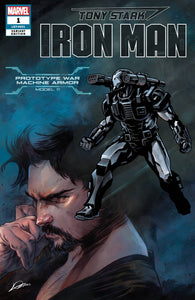 TONY STARK IRON MAN #1 WAR MACHINE STARK ARMOR VAR (06/20/2018)