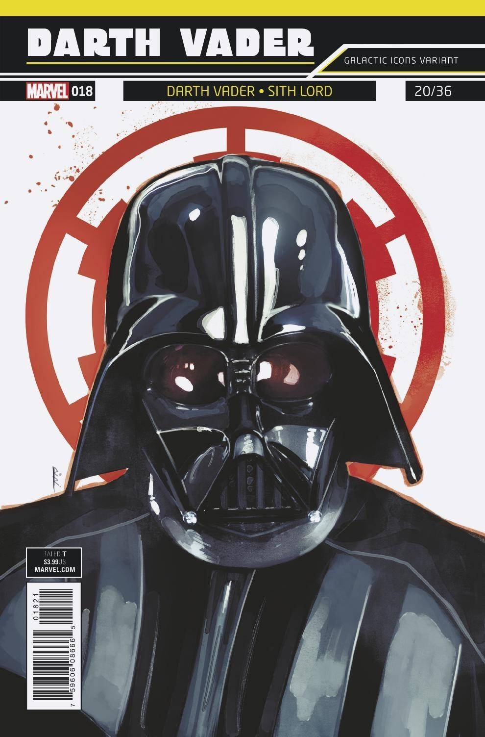 STAR WARS DARTH VADER #18 REIS GALACTIC ICON VAR (07/18/2018)