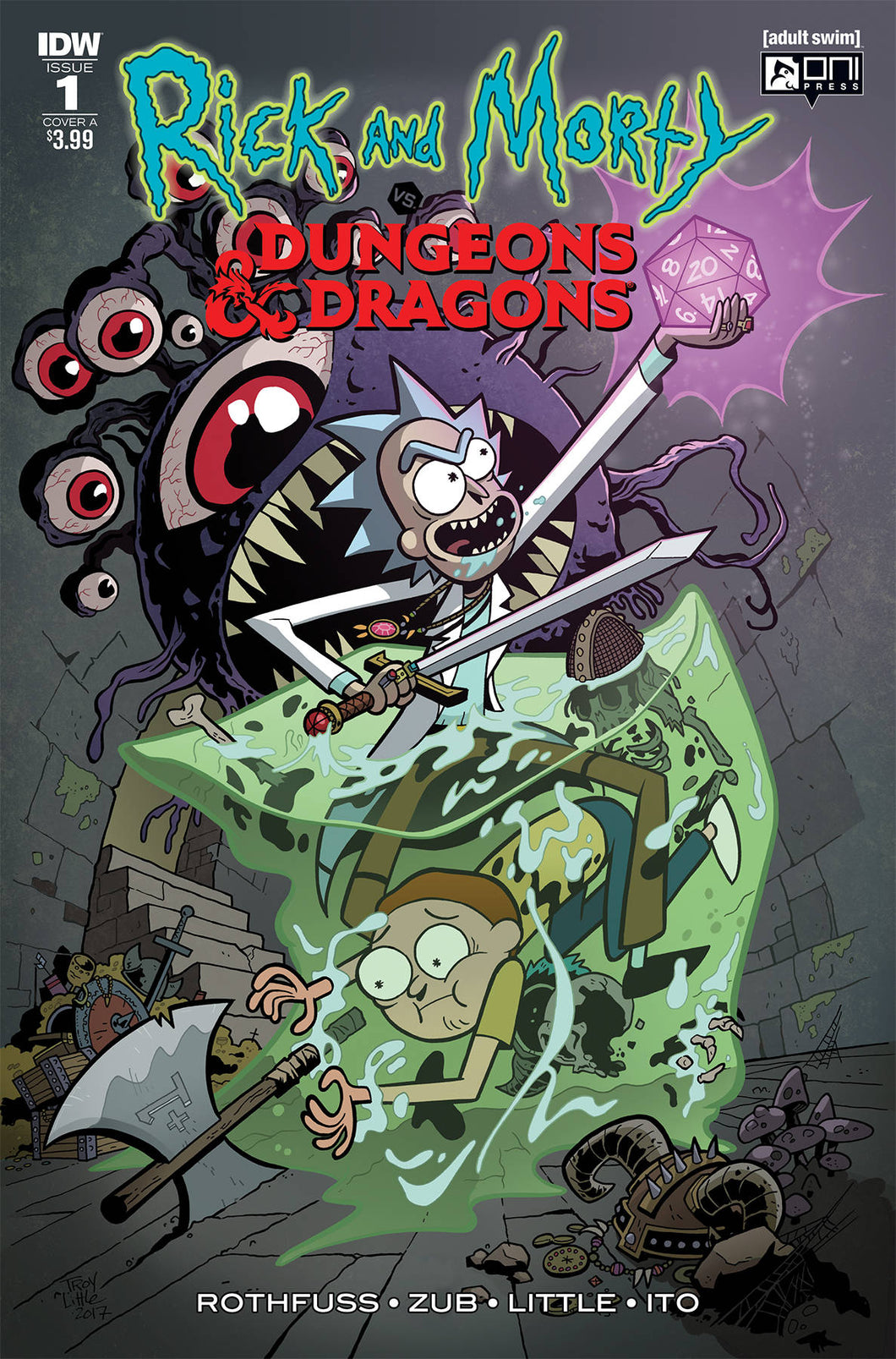 RICK & MORTY VS DUNGEONS & DRAGONS #1 (OF 4) CVR A LITTLE (C (08/29/2018)