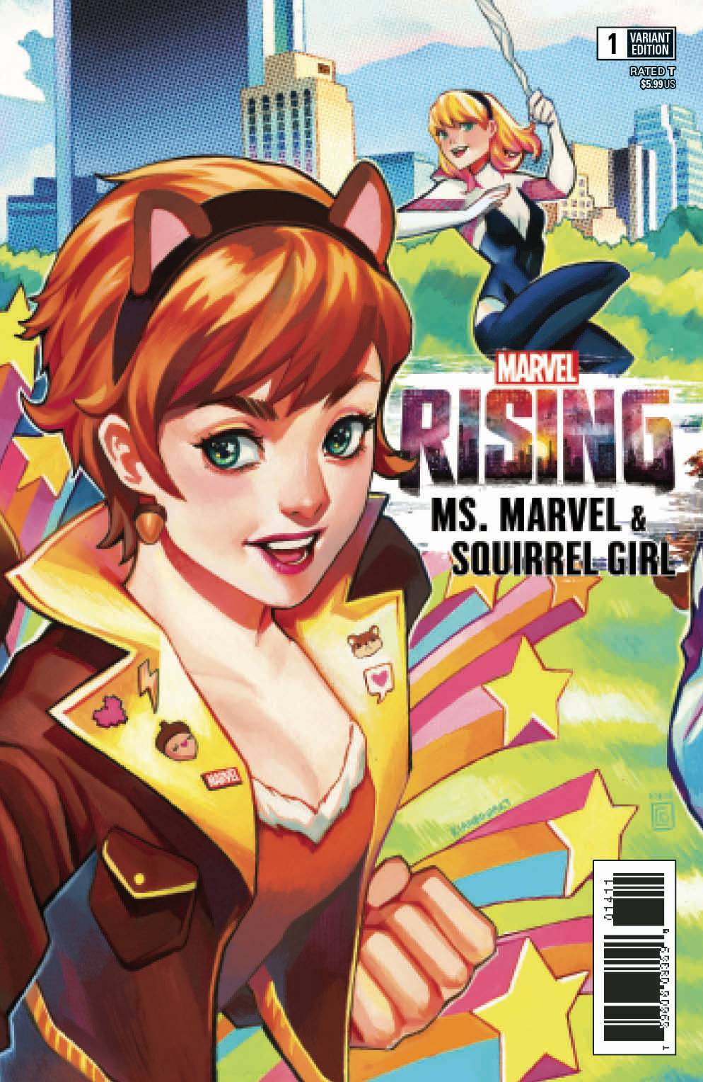 MARVEL RISING MS MARVEL SQUIRREL GIRL #1 CONNECTING VAR (08/01/2018)
