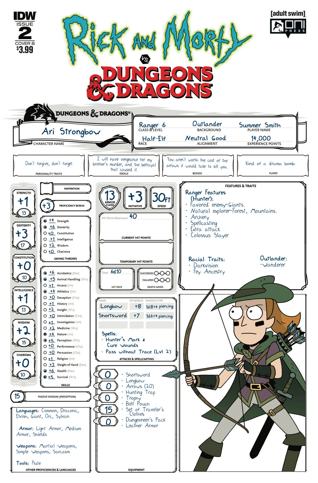 RICK & MORTY VS DUNGEONS & DRAGONS #2 (OF 4) CVR B LITTLE (C (09/26/2018)