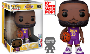 "Funko POP! NBA : Lakers - 10"" LeBron James (Purple Jersey)"
