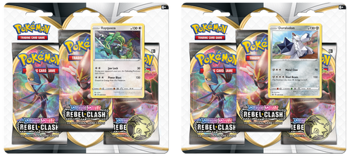 Pokemon: SS2 Sword & Shield - Rebel Clash 3PK Blister