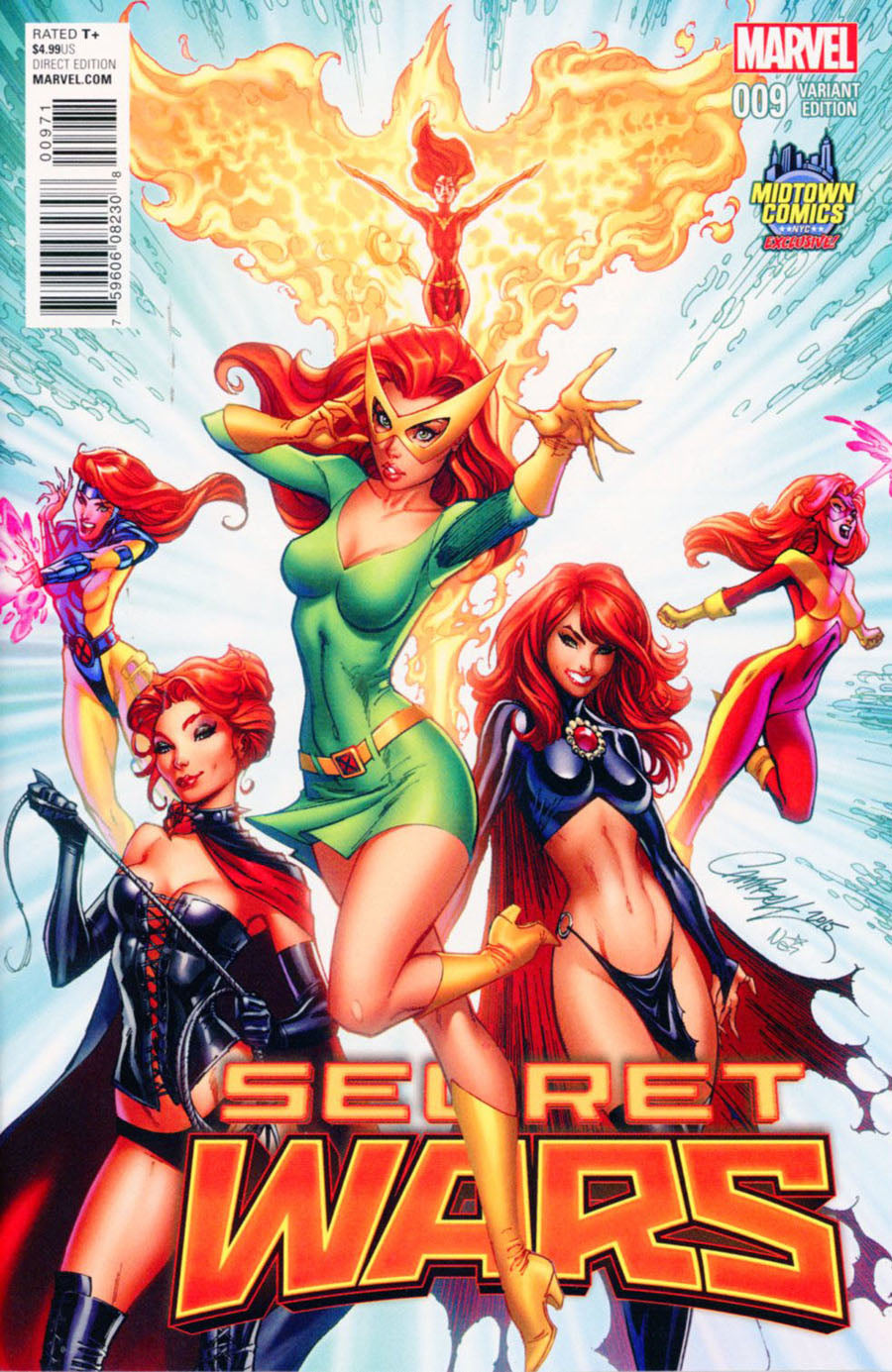 Secret Wars #9 J. Scott Campbell Midtown Comics Exclusive