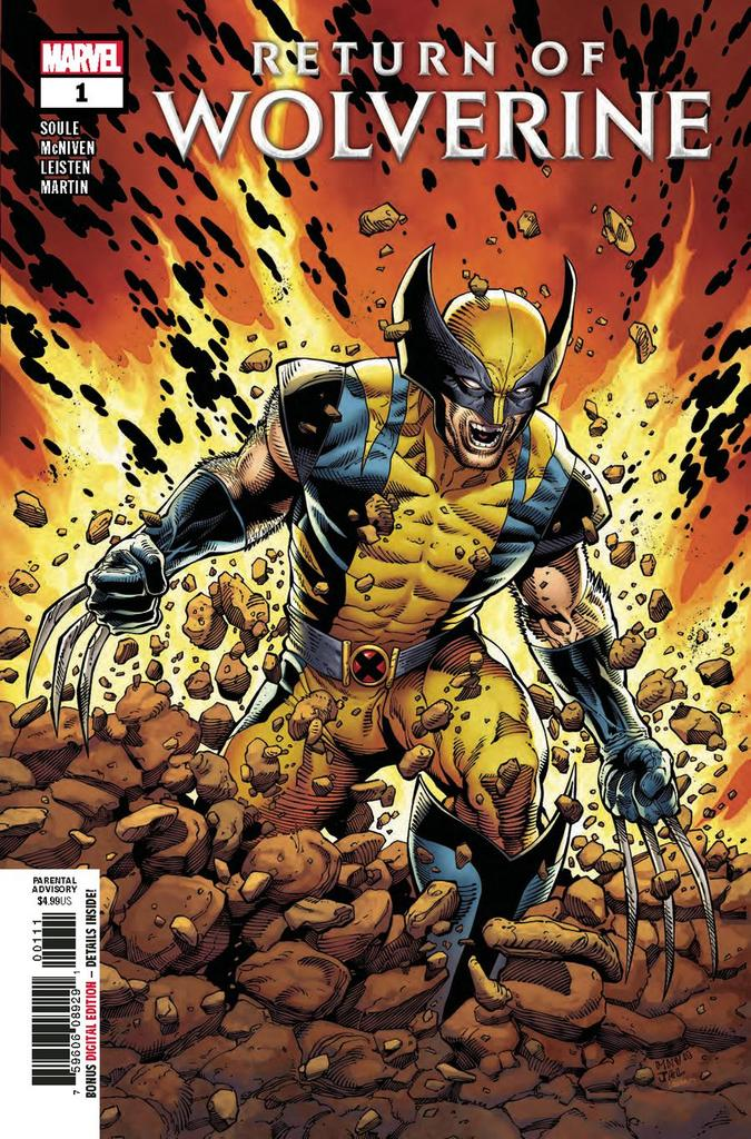 RETURN OF WOLVERINE #1 (OF 5) (09/19/2018)