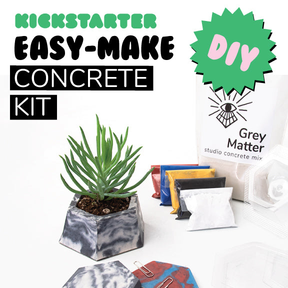 Easy Make Concrete Kit Kickstarter Thank You!