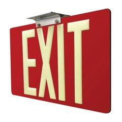 Alternatives to hardwired exit signs are Photoluminescent (Glow in the dark exit signs) and Tritium self luminous