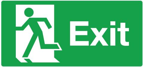 X Ray in use illuminated Led exit sign - Battery - Universal Mount ...