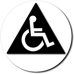 California All Gender Accessible Restroom Door Sign - Color Reverse