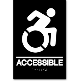 ACCESSIBLE Speedy Wheelchair Sign - NY and CT