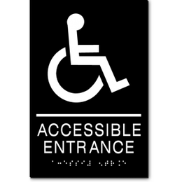 ACCESSIBLE ENTRANCE Wheelchair ADA Sign