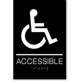ACCESSIBLE Wheelchair ADA Sign