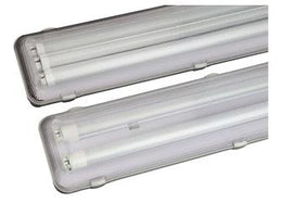 36W LED 4' 2 Lamp Vapor Tight Fixture - 5000K / 3600 L