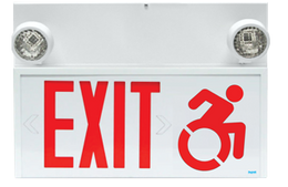 Connecticut approved exit sign with emergency light