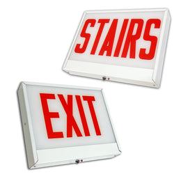 Stairs and Exit Signs for City of Chicago - Steel housing - 2 hour battery