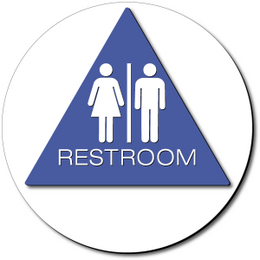 California Unisex RESTROOM Door Sign – Styrene