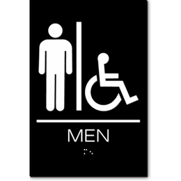 California MEN Accessible Restroom ADA Wall Sign