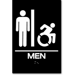 MEN Speedy Wheelchair Restroom Sign - NY and CT
