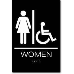 California WOMEN Accessible Restroom ADA Wall Sign