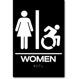 WOMEN Speedy Wheelchair Restroom Sign - NY and CT
