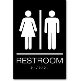 California Unisex RESTROOM ADA Wall Sign