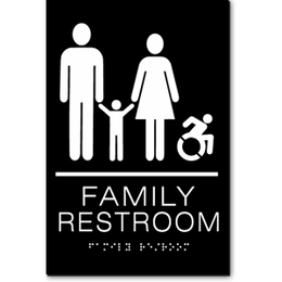 FAMILY RESTROOM Speedy Wheelchair Sign - NY and CT