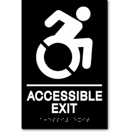 ACCESSIBLE EXIT Speedy Wheelchair Sign - NY and CT