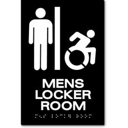 MENS LOCKER ROOM Speedy Wheelchair Sign - NY and CT