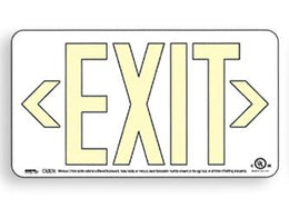 Photoluminescent Exit Sign - Power Free - Ultra 50 Foot Viewing Distance UL Listed - US Made