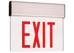 Edge Lit Exit Sign RED LED Two Circuit - UL Listed