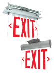 Angle pivoting edge lit exit sign