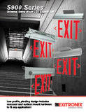 Universal Mount Edge Lit Exit Sign with Battery