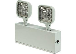 Emergency Lighting LED Steel Unit - 6 Volt 1 Watt Heads