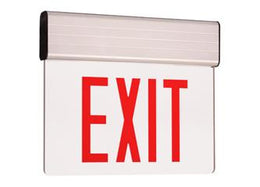 "New York City Approved LED Edge Lit Exit Sign 8"" Letters - Battery Back-up"