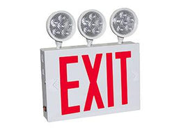 "New York Combination LED Emergency Light with three lamps - 8"" letters"