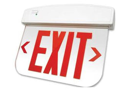 Edge Lit Universal Mount Exit Sign - Thermoplastic Housing - UL Listed