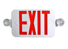 LED Exit and Emergency Combo - Low Profile - Top or End Mount
