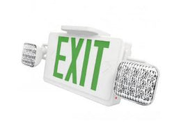 Thermoplastic Combo All LED Exit with Green LED Emergency Lights