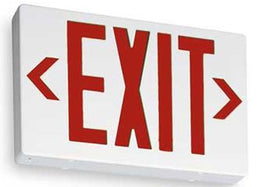 Lithonia Thermplastic Red Led Exit Sign with Battery Back Up