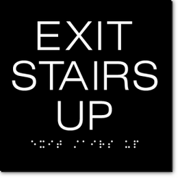 EXIT STAIRS UP ADA Sign