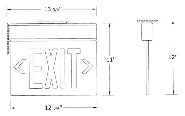 Clear Edge Lit Exit Signs Red Led Exit Sign Acrylic Exit