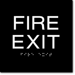 FIRE EXIT ADA Sign