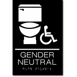 GENDER NEUTRAL Accessible Restroom Sign